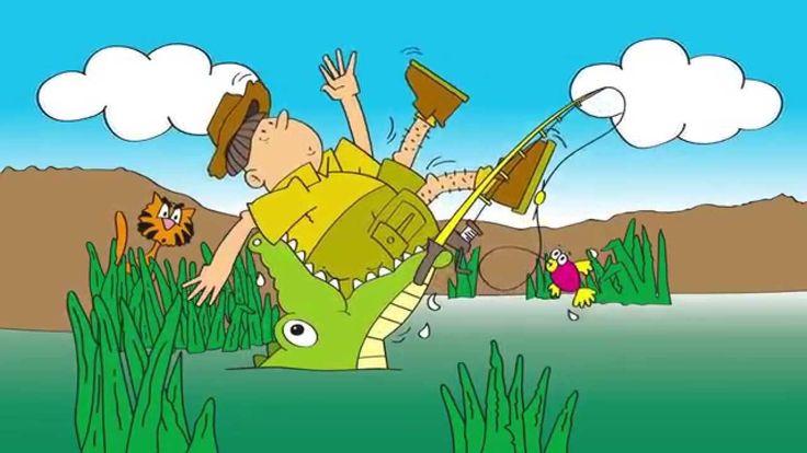 De krokodil ligt in het water.. - Kinderliedjes van Vroeger
