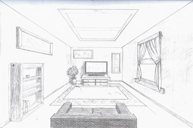 room in perspective | Single point perspective room by A-Rob