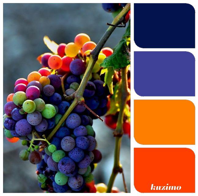 Color scheme inspiration  purple and orange