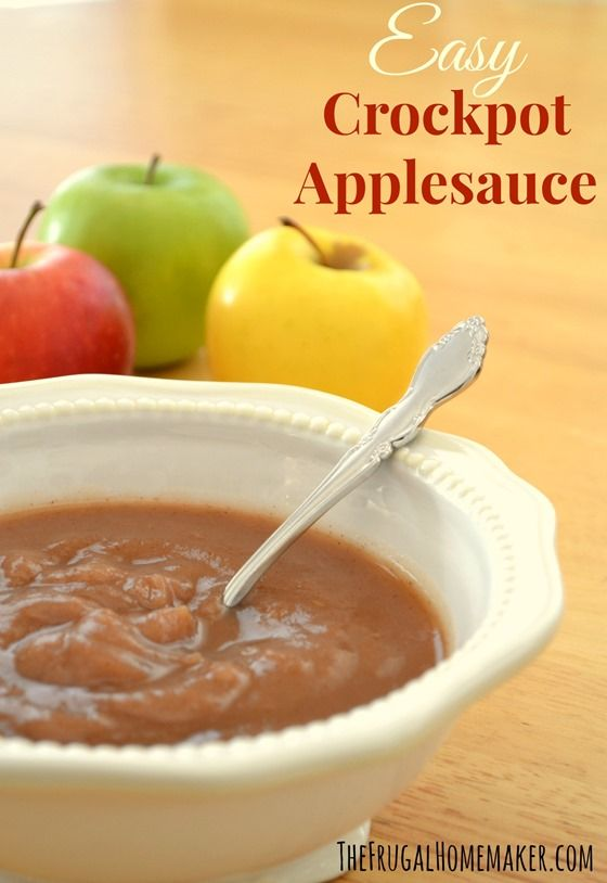 Crockpot Applesauce, home made. The frugal home maker teaches how to make your own applesauce in a crockpot. Can't wait to try this!