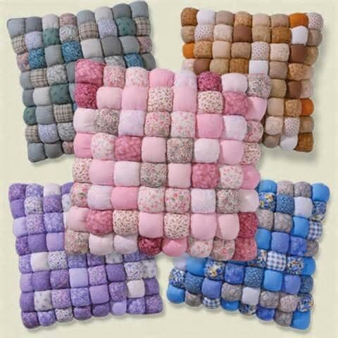 Biscuit quilted pillows