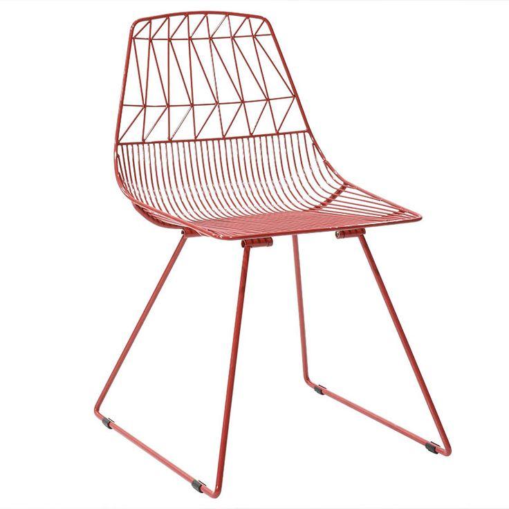 Metal chair Morena red