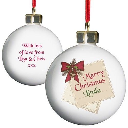Personalised Gift Tag Bauble  from Personalised Gifts Shop - ONLY £10.99