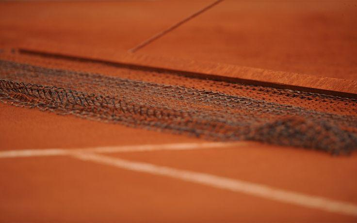 net on tennis court