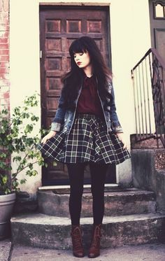 Cute autumn fashion outfits for 2015 : Real style is never right or wrong. It's a matter of being yourself on purpose.