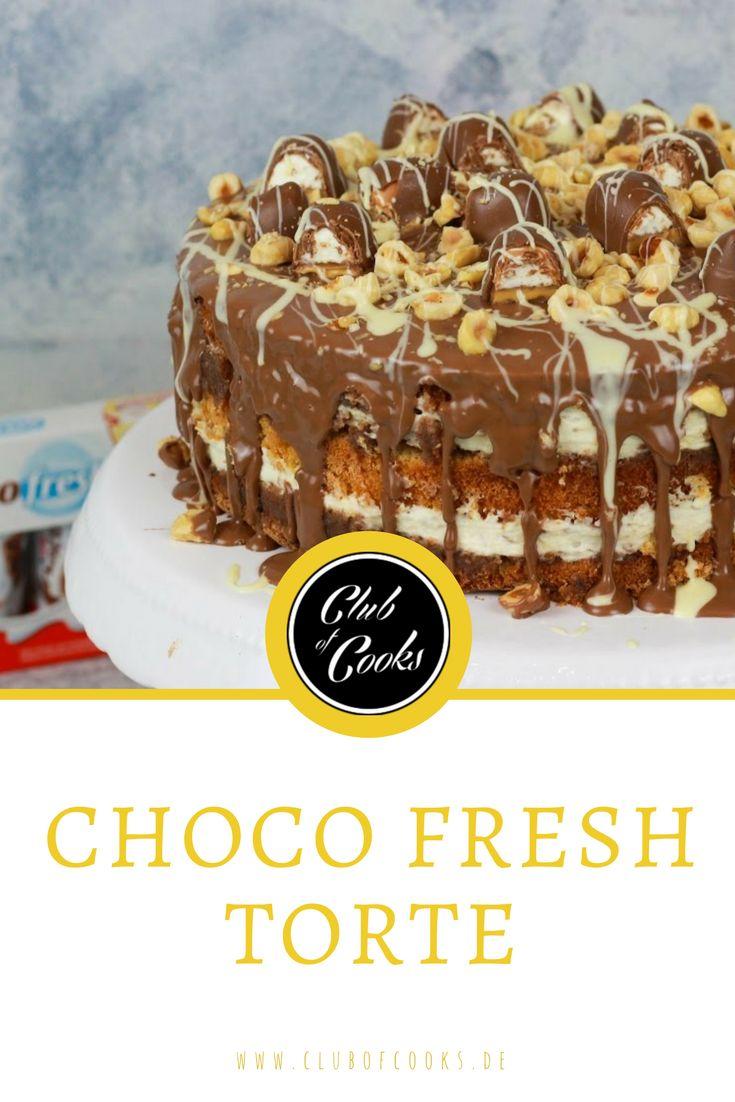 Ihr liebt die Choco Fresh Riegel? Dann probiert doch am Besten diese Choco Fresh Torte! Geschlagene Milchcreme, zarte Haselnusscreme und knackige Vollmilchschokolade bilden die Zutaten der beliebten Choco Fresh Riegel und werden in diesem Rezept zu einer himmlischen Torte. Viel Spaß beim Ausprobieren!