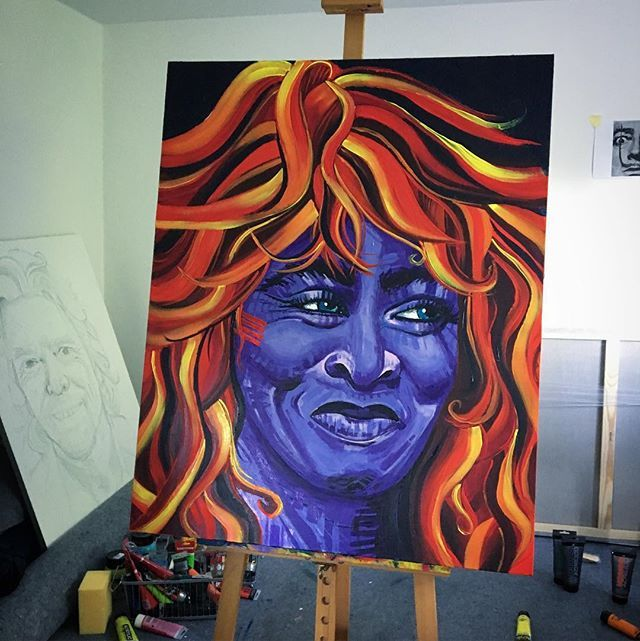 Tina Turner/ akryl 100x80 #tinaturner #turner #passion #painting #acrylicpainting #clarise #ulakaminska #art #painter