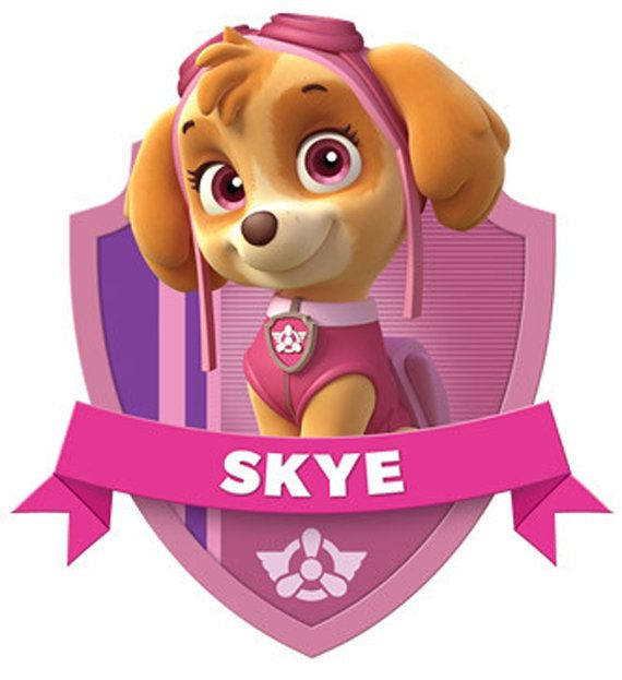 Characters for download. Paw Patrol skye prints great for cards some posters and iron on