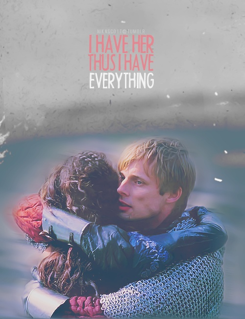Arwen = Arthur and Gwen, BBC Merlin. I don't ship Merthur specifically because of how well Bradley and Angel played Arthur and Gwen. Merlin and Arthur might be soulmates in a different way, but Arthur and Gwen were romantic soulmates.