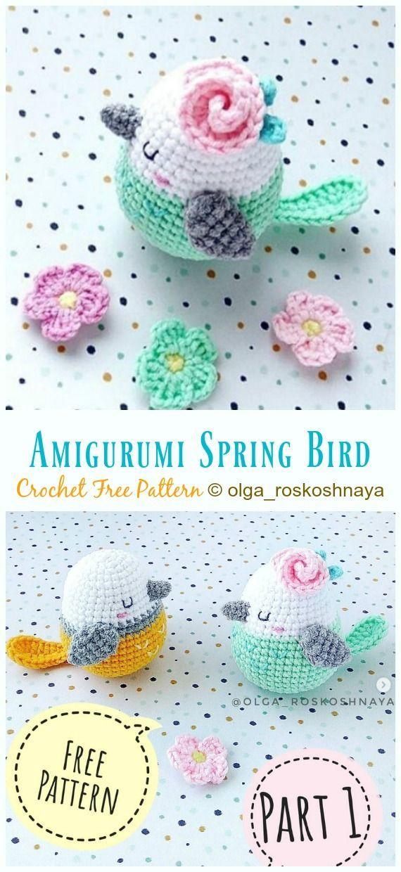 Amigurumi Spring Bird Crochet Free Pattern –