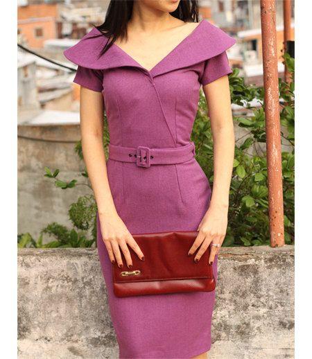 AIMEE wiggle pencil dress custom made 50s style by heartmycloset, $93.00
