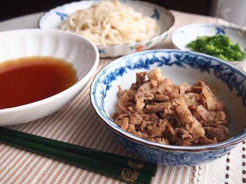 ガッツリ!肉ざるうどん   レシピブログ