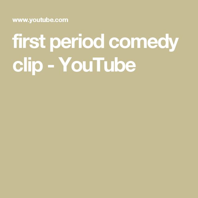 first period comedy clip - YouTube