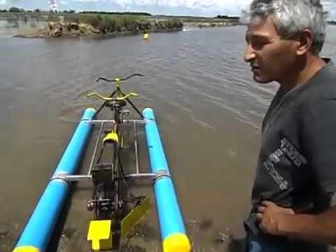 Pedalo - water Bike - دراجة ماءية - homemade one person