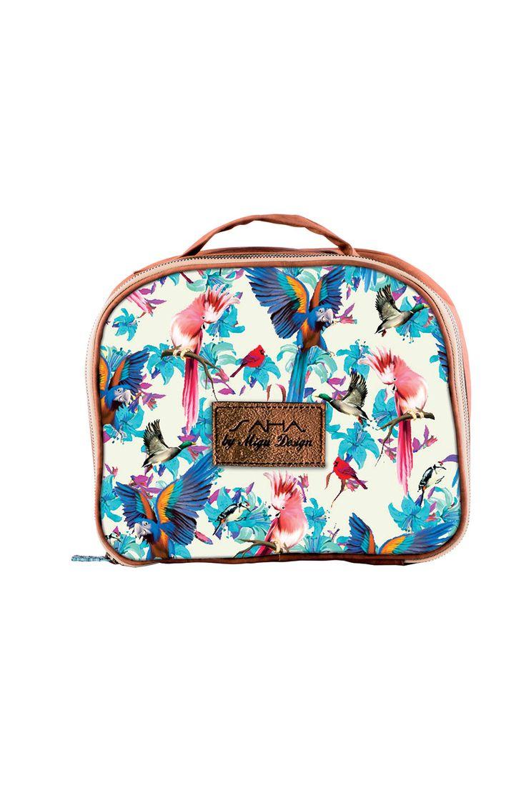 SAHA -small plastic lined travel/cosmetics bag Ref. 15CR01 Find it at www.sahaswimwear.com