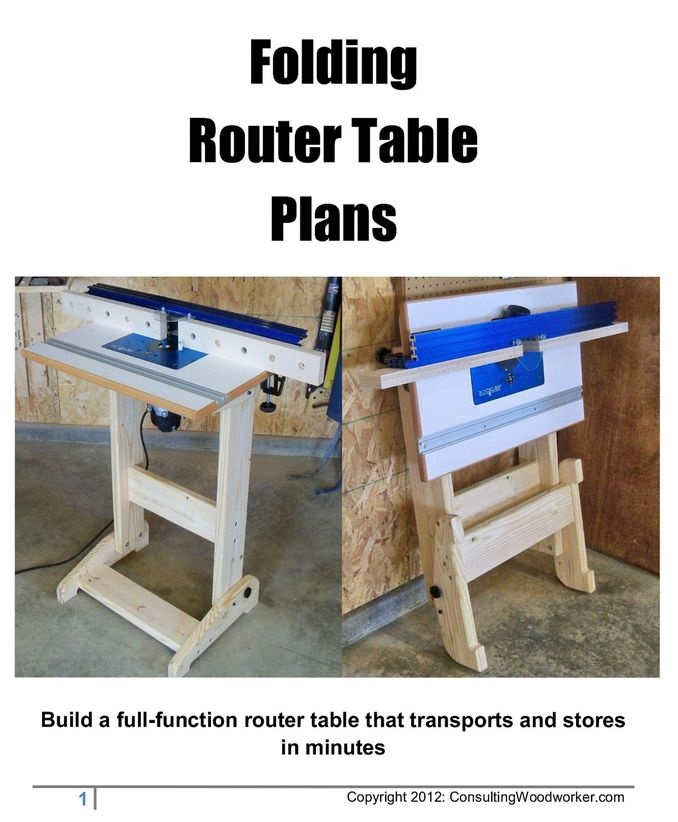 Folding router table plans woodworking projects plans greentooth Images