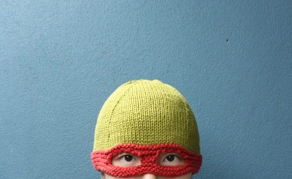 Knitting Pattern Turtle Hat : Teenage Mutant Ninja Turtle hat Knitted Childrens Hats Pinterest M...