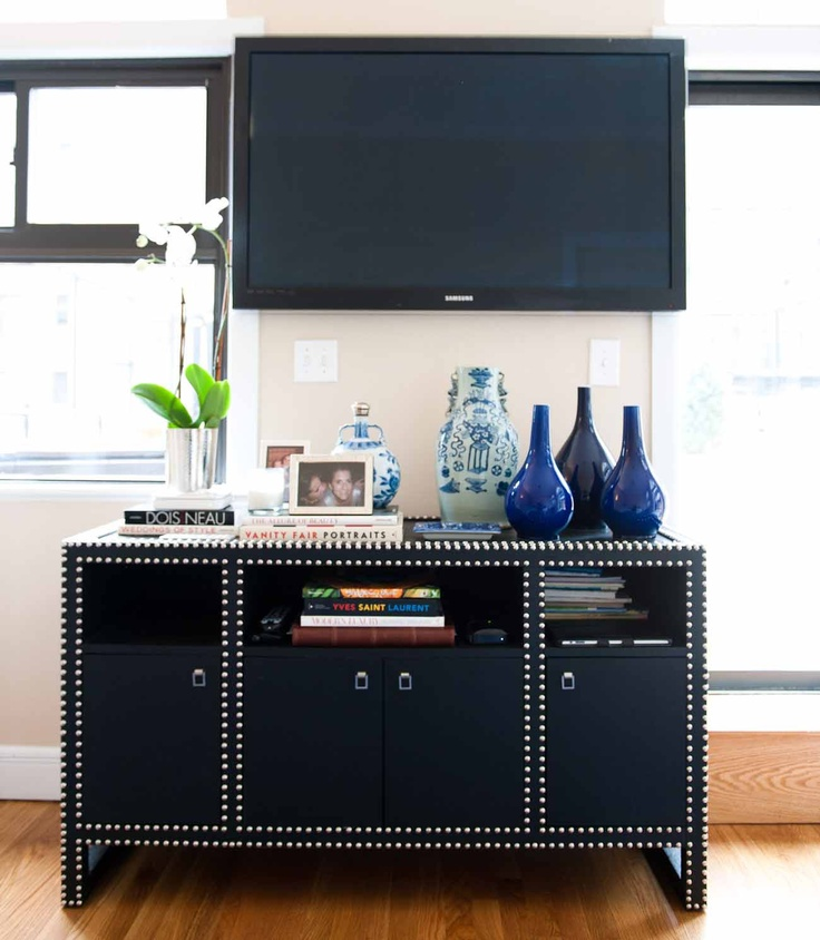 Love This Studded Tv Stand