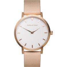 Barbas & Zacari Rose Leather Watch - Unisex