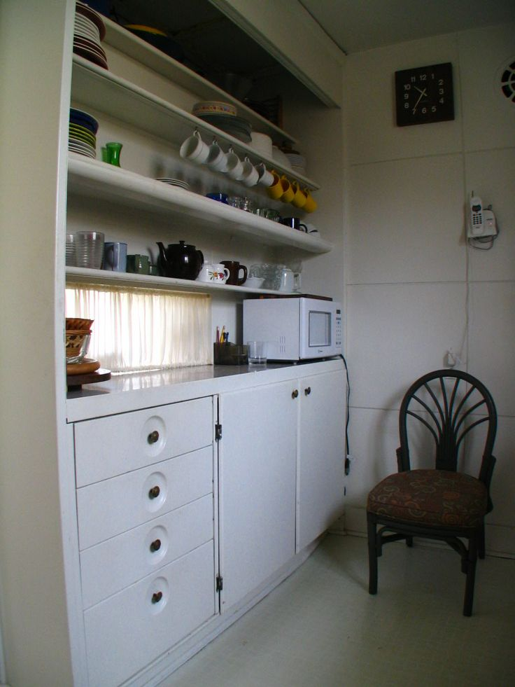 Lustron Kitchen Cabinets, Gray