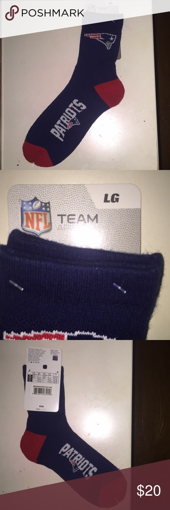 NWT PATRIOTS SOCKS New patriots socks bought from the NFL store. Very comfy Underwear & Socks Casual Socks
