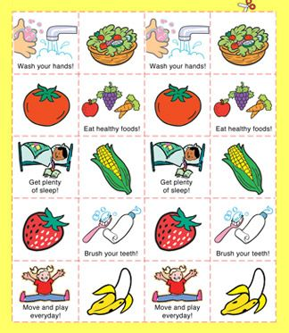 Teach your little ones Healthy Habits with our fun Match Game!