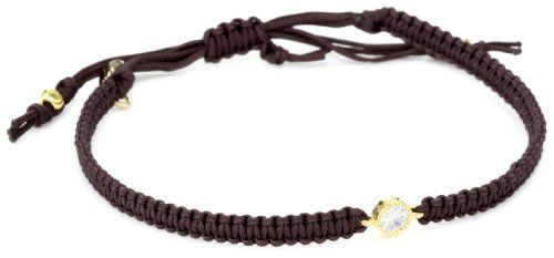 Tai Single Clear Crystal on Brown Silk Cord Bracelet Tai. $56.52. Made in Thailand. Hand braided cotton adjustable cord. Swarovski crystal. Gold-plated