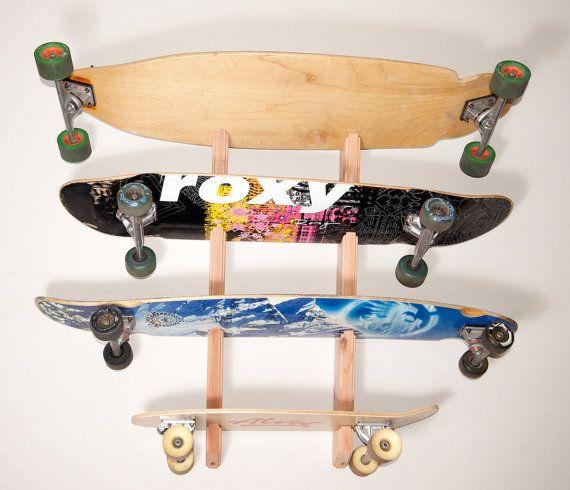 Skateboard Longboard Wall Rack Mount  Holds 4 by ProBoardRacks, $44.99