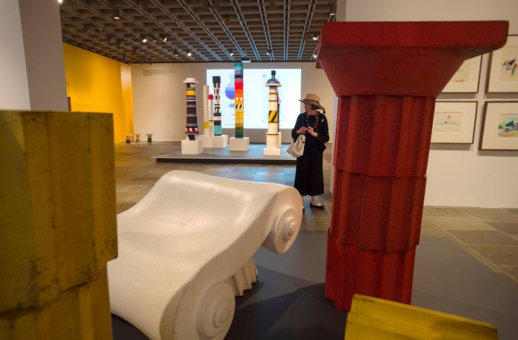 The first New York museum show devoted to the design maverick Ettore Sottsass lavishly contextualizes his work, from a red Olivetti typewriter to his role in the Memphis design group.
