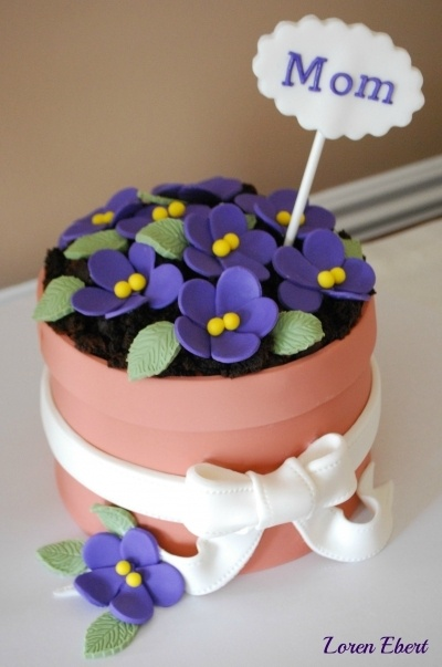Mother's Day Cake By LorenEbert on CakeCentral.com - so simple & cute!
