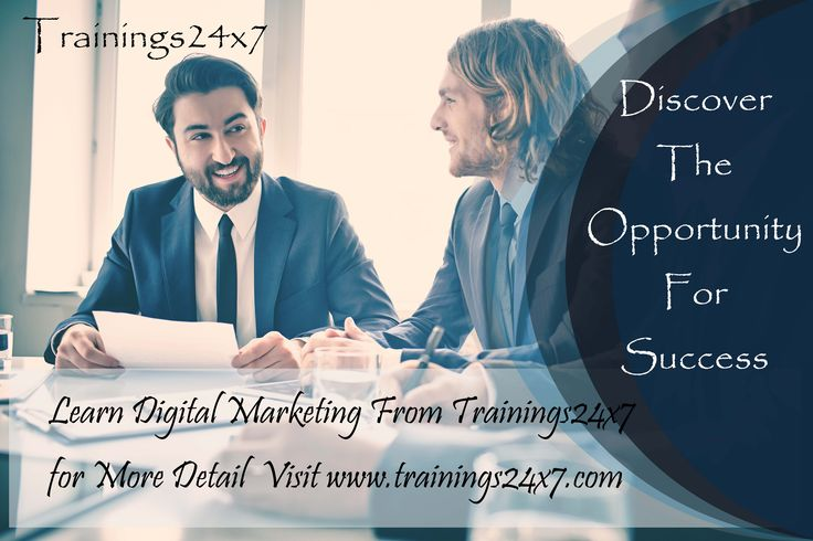 Get certified in DigitalMarketing with Trainings24x7 and you will learn. • Search Engine Optimization(SEO) • On Page Optimization • Off Page Optimization • Local SEO • Content Marketing • Social Media Marketing • Pay per Click (PPC) • WordPress & Blogging • Google Analytics • Email Marketing