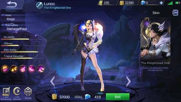 Lunox Mobile Legend Si Cantik Dengan Kemampuan Yang Sangat Imba Jogos