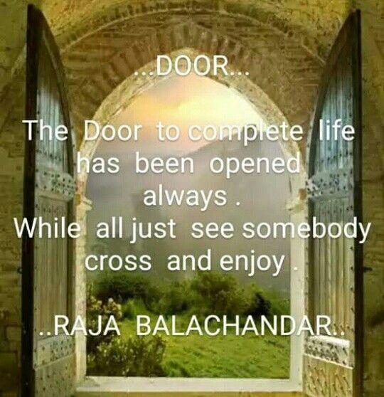Door to complete life...