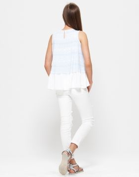 PAVEMENT BRANDS - AVALON TOP + ANNIE WHITE DENIM JEANS