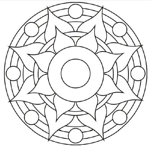 Mandala para colorir                                                                                                                                                     Mais