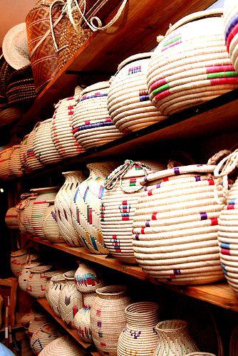 Cestas tejidas por la etnia de los Waraos, algo único y de gran valor ancestral. Delta Amacuro Venezuela