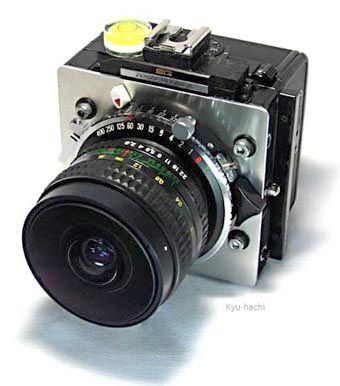 Hand-made Medium Format Camera with Circle Fish-eye Lens