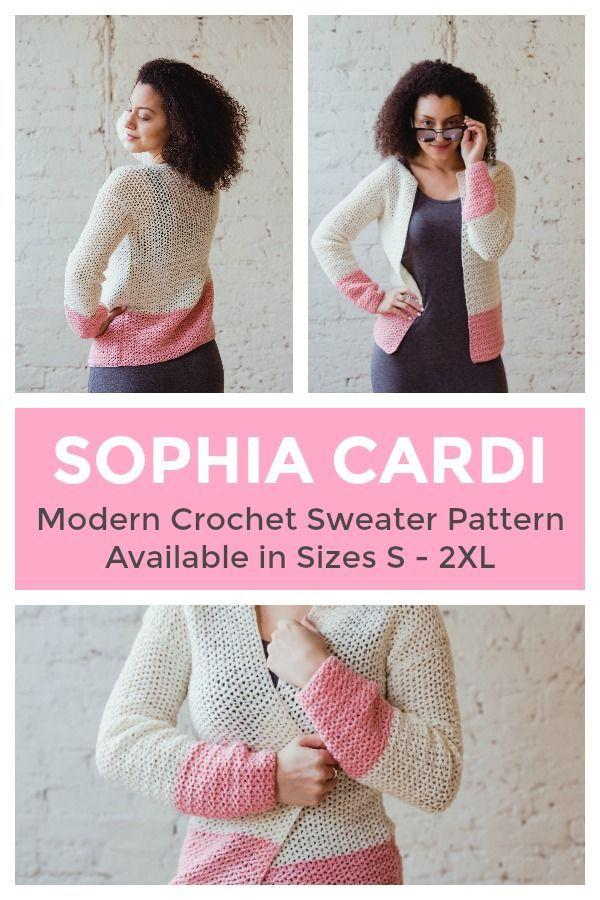 The Sophia Cardi, an Easy Crochet Sweater Pattern