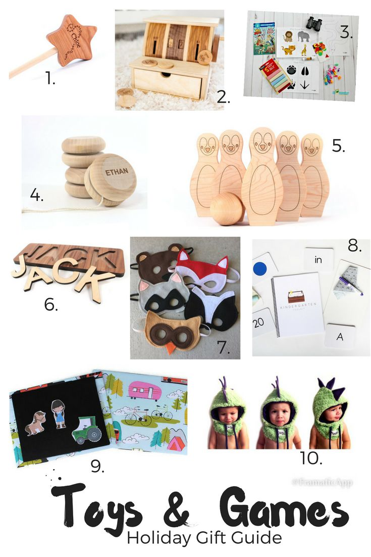 Holiday Gift Guide: Toys & Games for Toddlers - Christmas presents for kids - shop small, organic toys
