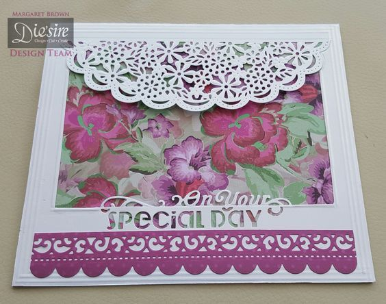 "Apeture card using Crafters Companion Die'sire Create A Card Decorative Die  ""…"
