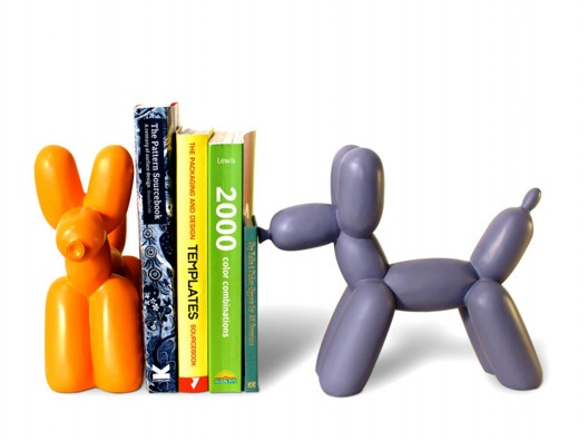 Balloon Animal Bookends: Decor, Imm Living, Books, Tops Bookends, Jeff Koons, Animal Bookends, Big Tops, Balloon Animal, Kids Rooms