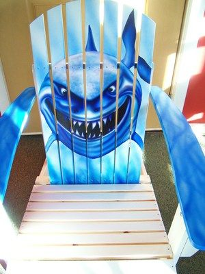 Shark Adirondack Chair from www.picknpaintstudio.com