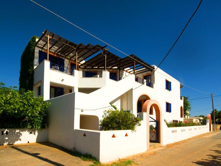 Allegria Family Hotel on Andros Island. The spacious studios of Allegria Family Hotel with the large verandas offer you view to the deep-blue Aegean Sea and provide you with a pleasant and relaxing accommodation.