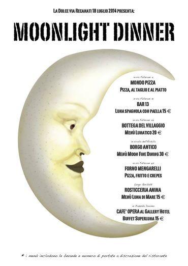 In #ViaFalleroni si mangia in compagnia della #luna, venerdì 18 luglio. VI ASPETTIAMO NUMEROSI al MOONLIGHT MUSIC CLUB