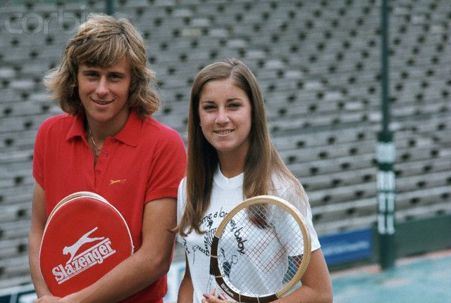 Chris Evert and Bjorn Borg