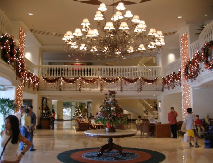 Christmas Decorations In Hotel Foyer
