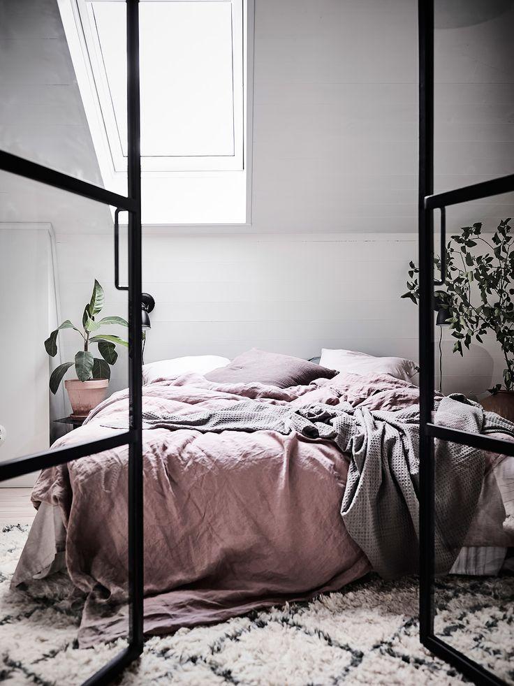 A dreamy Scandinavian attic apartment
