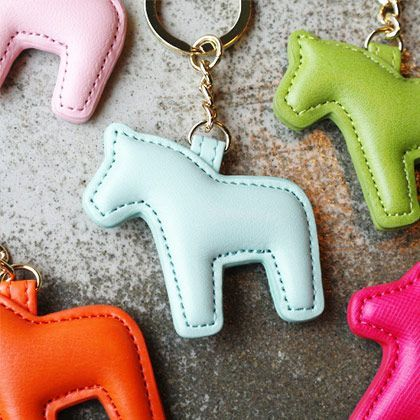Handmade cute pony leather key chain, key ring , (www.fallindesign….) #KeyChai…