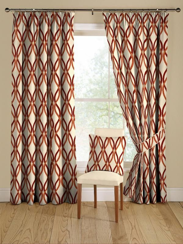 hang long patterned curtains friends apartment get the look