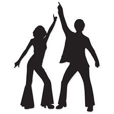70's DISCO DANCERS Silhouettes Cuto...